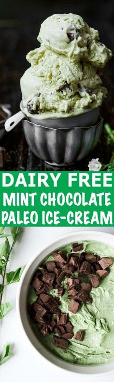Dairy Free Mint Chocolate Ice-Cream