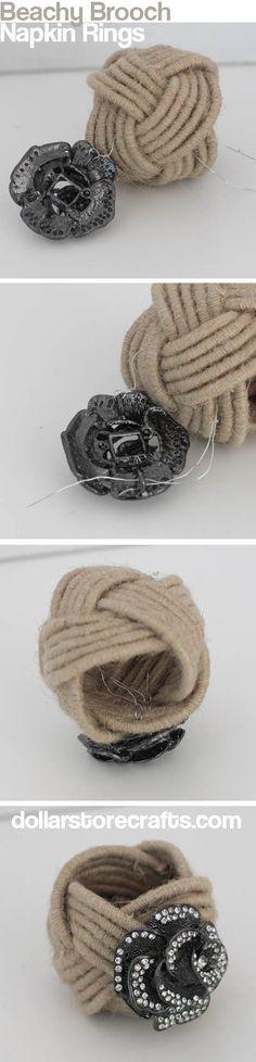 How to make beachy bling napkin rings.