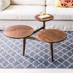 Tripod Coffee Table Brass Legs - Coffee Tables - Tables - Furniture