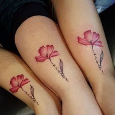 Best sister matching tattoo designs and ideas which are meaningful. Sibling tattoos designs and ideas, Small sister tattoos and ideas, unique tattoo ideas, Small Best Friend Tattoos, Cute Sister Tattoos, Sister Tattoo Designs, Family Tattoo Designs, Sibling Tattoos, Matching Sister Tattoos, Flower Tattoo Designs, Flower Tattoos, Tattoo Sister
