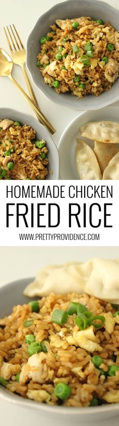 Wow! I can't believe how easy this homemade chicken fried rice is to make! So delicious too! Definitely adding this one into our rotation! Plus, they are giving away $150 of @Circulon pans! #circlesforlove #ad