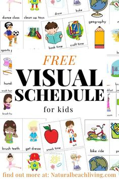 Daily Visual Schedule for keeping kids on task, This is an Amazing Free Visual Schedule and Kids Daily Schedule that is perfect for Autism, preschoolers, and toddlers. Picture Schedule for home & school, Visual Schedule Autism Printables Visual Schedule Printable, Visual Schedule Preschool, Visual Schedule Autism, Daily Schedule Cards, Daily Schedule Template, Toddler Schedule, Visual Schedules, Free Preschool, Preschool Printables