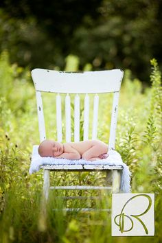 outdoor infant/chair portrait, @Rebecca Doehring