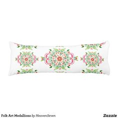 #Folk #Art #Medallions #Body #Pillow #zazzle #Heaven7 *15% off All Orders* Ends Tonight. Code SPRINGINVITE