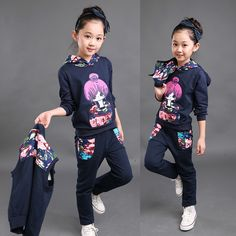 Promotion price Girls Clothing Sets Autumn Winter Vest Waistcoat Girls Casual Sweatshirts + Trousers Sport Suit Outfit Kids Clothes Girl Costume just only $27.72 - 29.82 with free shipping worldwide  #girlsclothing Plese click on picture to see our special price for you