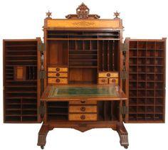 Walnut Extra Grade Wooton Desk - 5