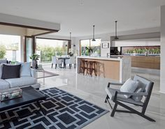 Best Open Kitchen Living And Dining Concepts Perfect For Modern And Traditional Interior Styles Open Plan Kitchen Living Room, Open Plan Living, Home Decor Kitchen, Dining Room, Dining Tables, Kitchen Ideas, Interior Design Gallery, Interior Design Kitchen, Interior Decorating
