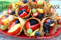 Easy Summer Fruit Snack - create an easy summer fruit snack for your kiddos!