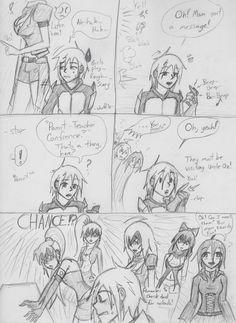 Jaune's love story part 5 Randowis Comics, Anime Comics, Funny Comics, Rwby Characters, Fictional Characters, Rwby Jaune, Rwby Memes, Rwby Red, Rwby Comic
