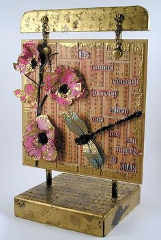 Stampendous Hollyhocks, Dragonfly, 7Gypsies Tape, Simon Says Stamp and Show