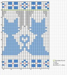 Knitting Charts or Graphs cat paws Cross Stitch Bookmarks, Cross Stitch Charts, Cross Stitch Patterns, Knitting Charts, Knitting Stitches, Knitting Patterns Free, Mittens Pattern, Cat Pattern, Cross Stitching