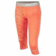 Girls' Nike Pro Fitted Graphic Capris from Finish Line. Saved to Pro. Nike Pants, Fitness Fashion, Capri, Workout, My Style, Exercise, Gym, Running, Clothes
