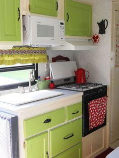 "Would be neat to do this with my drawers only do a rustic red for the ""country kitchen"" theme!!"