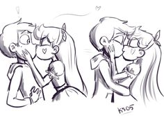 starco is real and yeah boi Starco Comics, Perfect Kiss, Cartoon Ships, Couple Cartoon, Animation, Star Butterfly, Disney Stars, Love Stars, Star Vs The Forces Of Evil