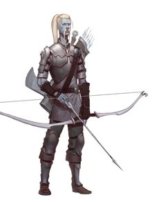 Male Cloud Giant Fighter Archer - Pathfinder PFRPG DND D&D 3.5 5th ed d20 fantasy