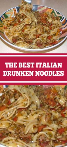 The Best Italian Drunken Noodles This recipe has been a family favorite for a while. Great flavors and we end up making a double batc. Italian Dinner Recipes, Quick Dinner Recipes, Italian Dishes, Easy Healthy Recipes, Easy Meals, Best Italian Recipes, Best Italian Food, Italian Sausage Recipes, Italian Meals
