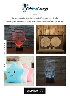 At GiftTheGalaxy.com, we offer the coolest, most unique space and astronomy-themed gifts in the galaxy! SHOP NOW to find >> Alien Hologram Optical Illusion 3D Lamp Light Nightlight, Vintage Moon Map Poster, Galaxy Bright Star Pillows, Tooth Teeth Hologram Desk Toy Light >> Space Themed Toys Lights Pendant Fashion Style Printed Traveler Travelers Gift Ideas for Space Lovers Moon Lovers Cool Nursery Bedroom Décor Ideas >> Space Gifts found  on #GiftTheGalaxy