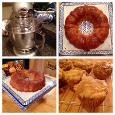 Pumpkin cream cheese muffins and apple sauce cake - perfect treats for fall