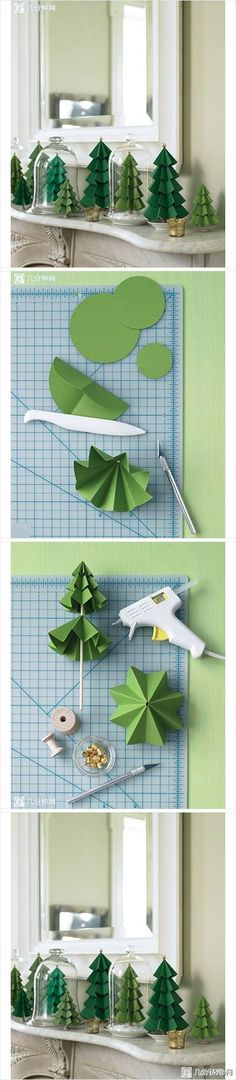 Cool Christmas Crafts Paper Crafts for Teens paper craft xmas wrap gift decorblumenbastelnbastelvorlagetutorial diy winter kids crafts christmas tree green decoration Christmas Tree Crafts, Noel Christmas, Christmas Paper, Christmas Projects, Holiday Crafts, Holiday Fun, Christmas Ornaments, Xmas Trees, Christmas Ideas