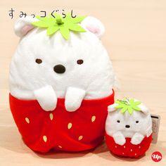 角落生物 Sumikko Gurashi - 草莓系列公仔 / 公仔掛飾 (白熊款)