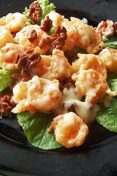 We are absolutely NUTS for these #delicious & #creamy Honey Walnut Shrimp.