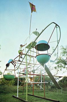 1960's Jungle Gym. Back when things were exciting and you took your life into our own hands at the playground.