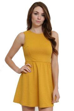 09ec9984cc83 MUSTARD FIT AND FLARE DRESS - - 1. Glamline TT