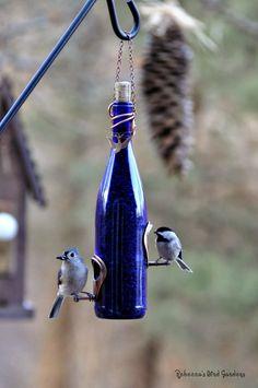 "New this spring! Wine-Bottle Bird-Feeders ~ ""The Vineyard"""