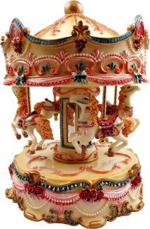 music boxes   ... Rose Musical Carousel, Carousel Music Boxes & Musical Merry Go Rounds