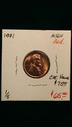 1931 Lincoln Cent MS64 Red