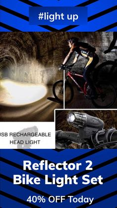 🚲 Light up your track and stay safe 💥 🚲 Ultra Bright 320-Lumen Output🌞 🌞 Don't waste money on batteries 🔋 USB rechargeable🔋 🔥 40% Off Today🔥 Bicycle Stand, Bike, Cycling Accessories, Bicycle Lights, Led Technology, Family Kids, Stay Safe, Flashlight, Night Time