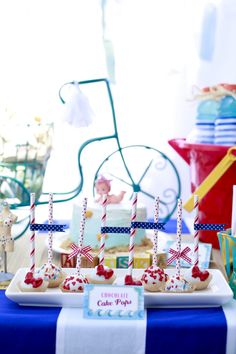 Vintage Beach Baby Shower - so many fun details in this fun shower!