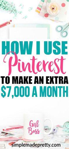How to Make Money ($10,000 Per Month) Online Using Pinterest #makemoney #money #workfromhome #makemoneyonline #pinterest #makemoneyonpinterest