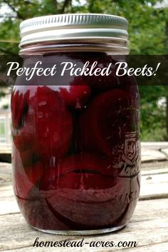 Perfect pickled beets! This is my Grandmothers recipe I've been enjoying since I was a little girl. So easy to make and can to enjoy all year. | www.homestead-acres.com via @homesteadacres
