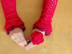 #art #red Uncinetto: schema fiori, la rosa [FOTO]