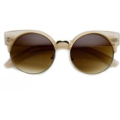 Vintage Indie Round Circle Cat Eye Sunglasses 8785 ($14) ❤ liked on Polyvore featuring accessories, eyewear, sunglasses, glasses, vintage sunglasses, circular sunglasses, circle lens sunglasses, vintage cat eye glasses and cateye sunglasses