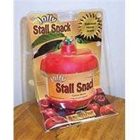 JOLLY STALL SNACK, Color: CARROT (Catalog Category: Equine Treats & Toys:TREATS & TOYS) by HORSEMEN S PRIDE INC. $33.13. The jolly stall snack is sure to alleviate stall boredom. Durable apple shaped holder contains a nutritious snack for any horse.Ingredients: Starch Molasses, Dextrose Monohydrate, Natural Flavoring, Orange Food Coloring And Potassium Sorbate.(Color: CARROT)