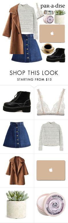 """W A I T"" by m-athilda ❤ liked on Polyvore featuring WithChic, Lonely, Chicwish, Rebecca Taylor, 3M, Allstate Floral and The Body Shop"