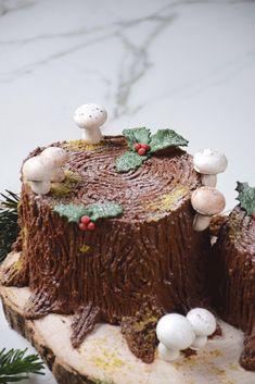 Easy Christmas Cookie Recipes, Best Christmas Cookies, Christmas Tree, Nake Cake, Yule Log Cake, Cake Chocolat, Cooking Cake, Mud Cake, Forest Cake