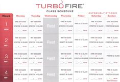 Turbo Fire Class Schedule   Turbo Fire Reviews: Calendar and Fitness Guide