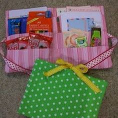 """Travel Activity Packs - These Travel Activity Packs are a great way to entertain children on long car rides. Chock-full of games and entertainment, these will turn """"Are we there yet?"""" into """"Take the scenic route!"""""""