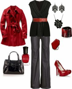 Valentine outfit idea by kristen Polyvore
