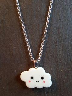 Happy Cloud Resin Pendant Necklace