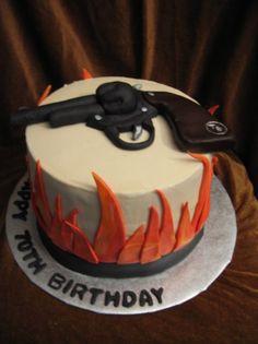 gun cake design