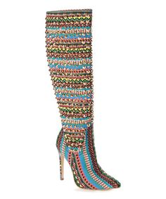 Look what I found on #zulily! Blue & Gold Stud Control Boot #zulilyfinds