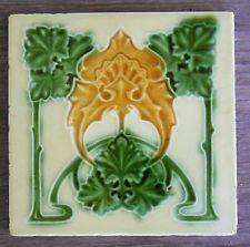 """Original  English  Art Nouveau tile , c1905/6 6""""x6""""Tile 397"""