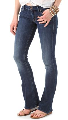 MOTHER - The Runaway Skinny Flare Jeans - Flowers from the storm ($196)