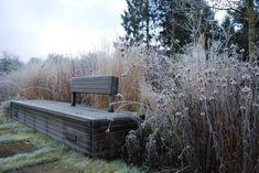 Winterbeeld verkregen door de tuin NIET winterklaar te maken | ontworpen door GRASVELD Tuin- en Landschapsarchitecten Outdoor Furniture, Outdoor Decor, Winter, Design, Home Decor, Winter Time, Decoration Home, Room Decor