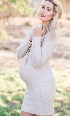 Love this fitted sweater dress perfect for date night this winter season
