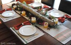 The Christmas Log | DIY Christmas Centerpiece Ideas To Complete Your Table